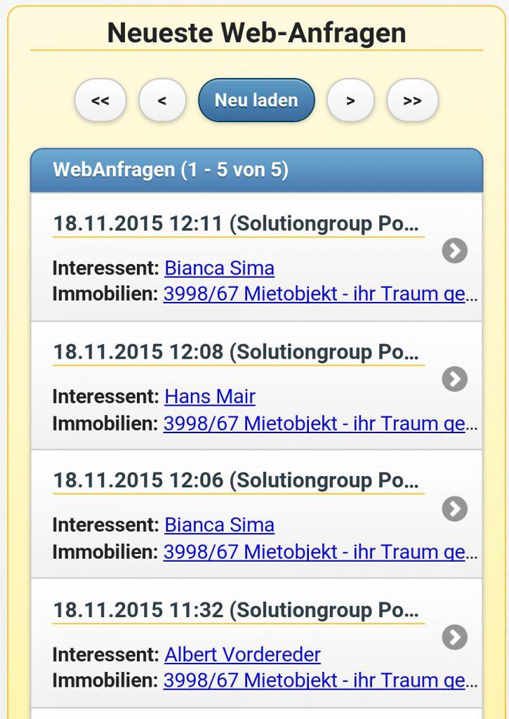 Mobile App Angebotserstellung Für Eingehende Webanfragen T4923